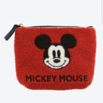 TDR Mickey Mouse Fluffy Pouch RED