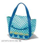 BEL Print design Alien Little Green Men Tote Bag Light Blue