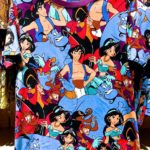 TDR all over patterned t-shirt Aladdin Japanese Adult Unisex LL
