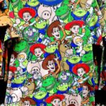 TDR all over patterned t-shirt Toy Story Japanese Adult Unisex LL